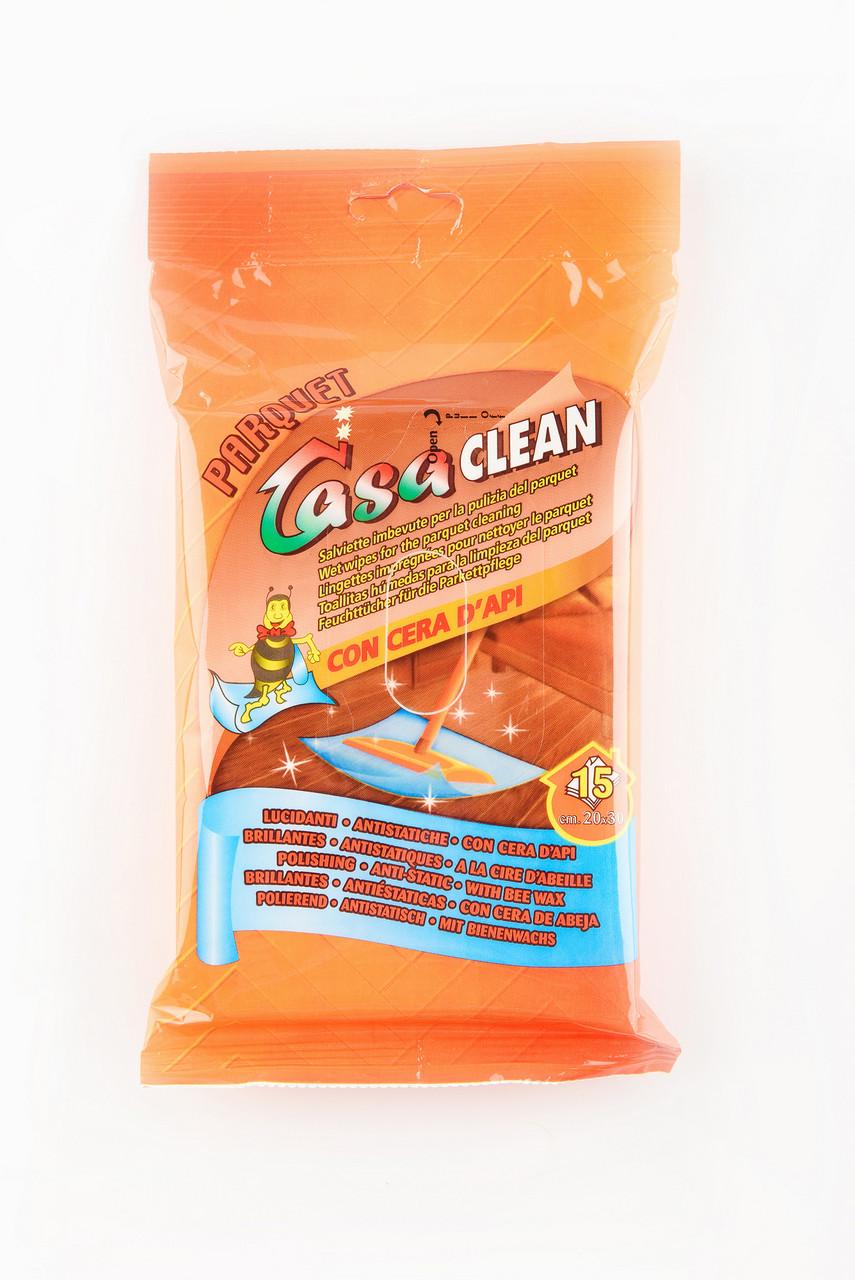 Casa Clean Parquet Вологі серветки для очищення паркету