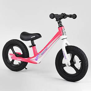 """Велобіг від Corso 27667, колесо 12"""" надувні, магнієва рама, магнієві диски, підніжка"""