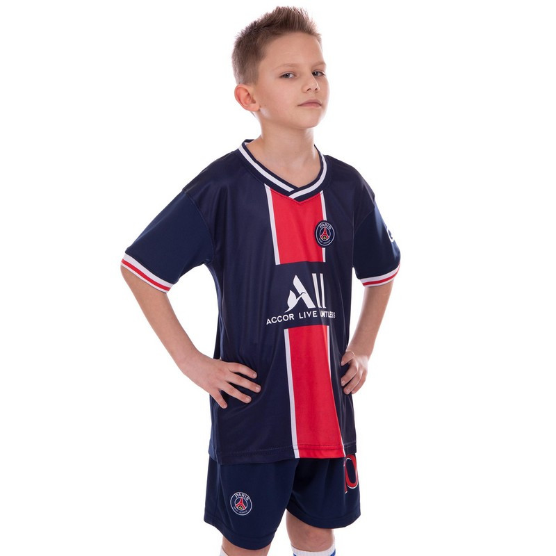 Форма футбольна дитяча Неймара ПСЖ PSG NEYMAR 2021 домашня SP-Planeta Синьо-червона (CO-2508) 20
