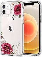 Чехол Spigen для iPhone 12 / iPhone 12 Pro - Ciel, Red Floral (ACS01729)