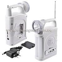 Фонарь переносной (фонарь светодиодный аккумуляторный)YAJIA YJ-2885 SY, 1W+22SMD, USB, радио