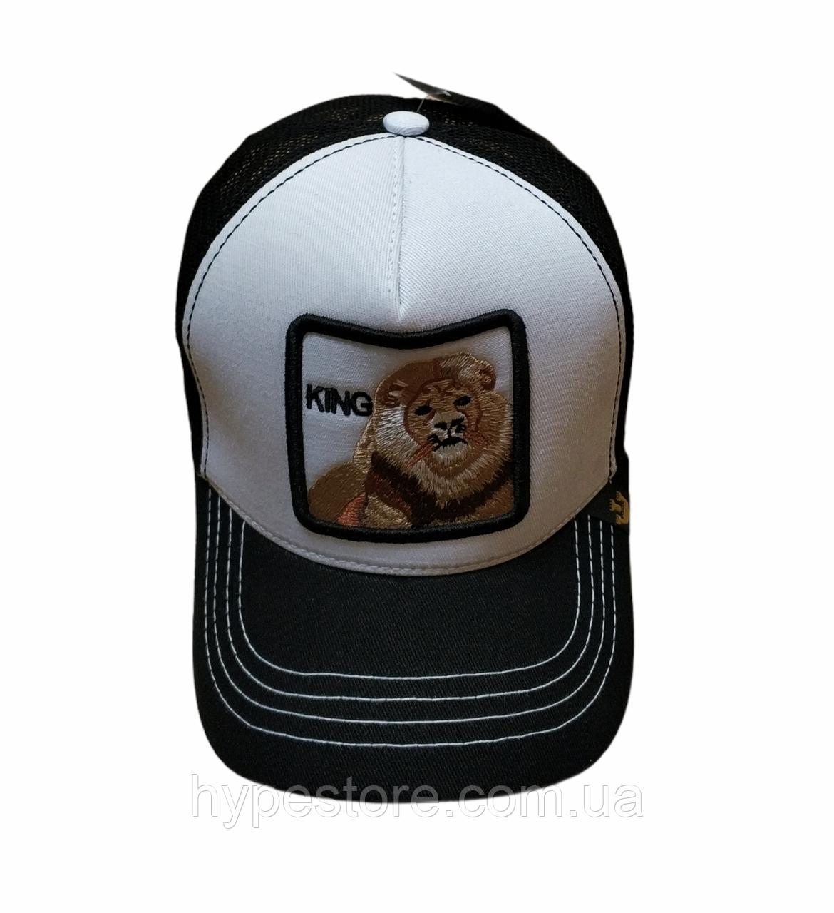 Стильная кепка тракер бейсболка, унисекс нашивка животных лев kihg Goorin Brothers
