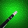Лазерна указка 5mW з насадкою, зелений лазер в подарунковому футлярі з батарейками, фото 5