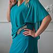 Нарядні сукні великих розмірів 50-58 бірюзовий, фото 4