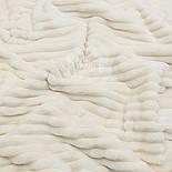 """Лоскут плюшу в смужку """"Stripes"""" кольору слонової кістки з теплим відтінком, розмір 80 * 80 см, фото 2"""