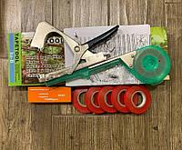 Посилений степлер (тапінер) для підв'язки рослин винограду, овочів Tapetool+ скоби 10000шт +стрічка 5 рулонів