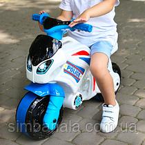 Детский полицейский толокар-мотоцикл Технок