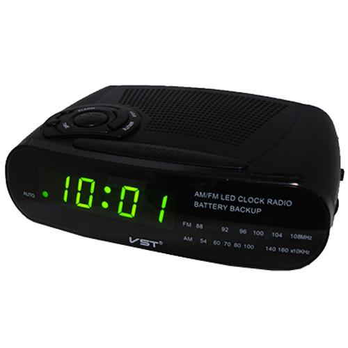 Годинник мережеві VST-906-2 зелені, радіо FM, 220V
