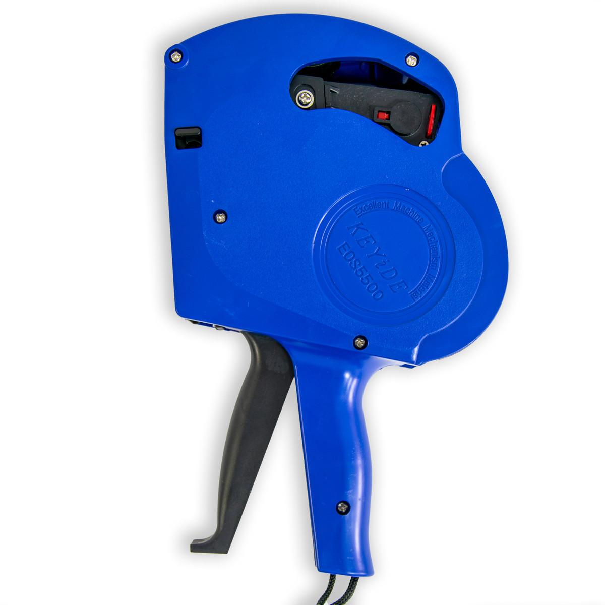 Стікер пістолет для цінників KEYiDE EOS5500, синій маркувальний етикет пістолет (пистолет для ценников)