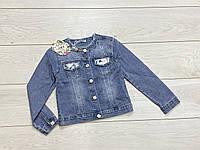 Джинсовая куртка для девочек. 4- 6 лет.