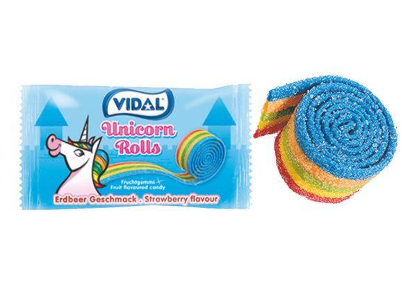 Жувальна цукерка Vidal Unicorn Rolls 19 g