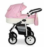 Детская универсальная коляска 2 в 1 Verdi Laser 02 с регулируемой спинкой для детей 0-3 лет, розовая