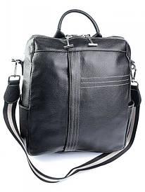 Женская кожаная сумка-рюкзак NO-T632 черная
