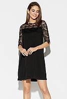 Женское летнее шифоновое платье Orion, черное
