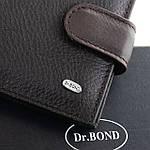 Гаманець портмоне чоловічий шкіряний DR. BOND коричневий (05-132), фото 4