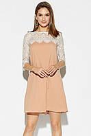 Женское летнее шифоновое платье Orion, бежевое