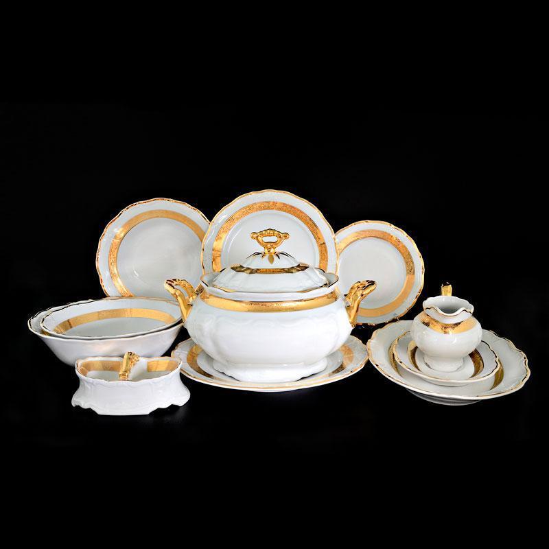 Сервіз столовий Thun Marie-Louise (Золота стрічка) на 6 персон 28 предметів фарфор (8800300)