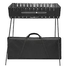 Разборной мангал чемодан на 12 шампуров большой с чехлом сталь 2 мм