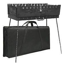 Разборной мангал чемодан Турист большой на 12 шампуров с чехлом сталь 2мм с ручкой заводской Украина