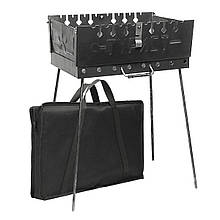 Разборной мангал чемодан Турист 8 шампуров с чехлом сталь 2мм заводской