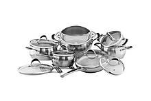 Набір посуду Vinzer Harmony 14 предметів нержавійка (89037 Vinzer)