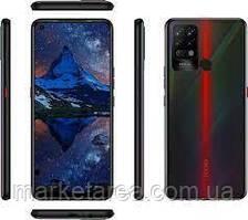Смартфон с мощной батареей и тройной камерой на 2 сим карты Tecno Pova (LD7) 6/128Gb DS Dazzle Black 4G (LTE)