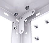 Стеллаж белый/черный 1500/1700х750х300мм, 35кг, 5 полок, металлический, полочный для дома, ванной, офиса, фото 6