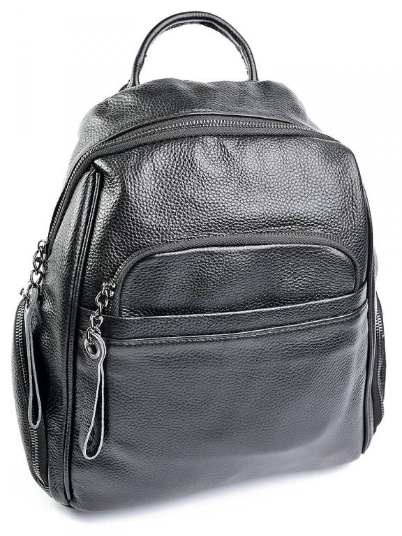 Женская кожаная сумка 87017 черная