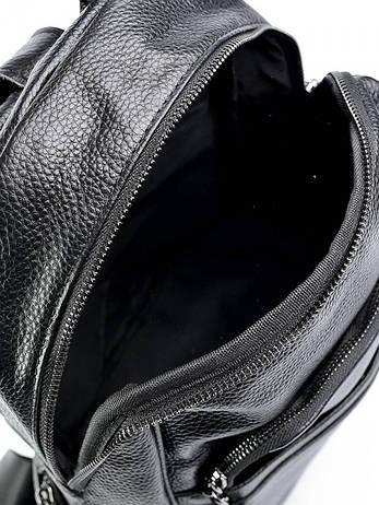 Женская кожаная сумка 87017 черная, фото 2