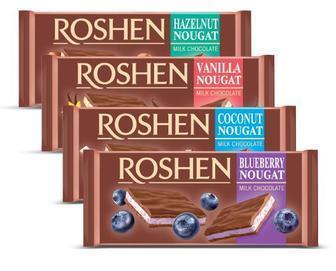 Шоколад молочый Roshen с нугой 90г (в ассортименте)