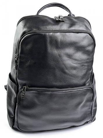 Кожаный рюкзак 11682 черный, фото 2