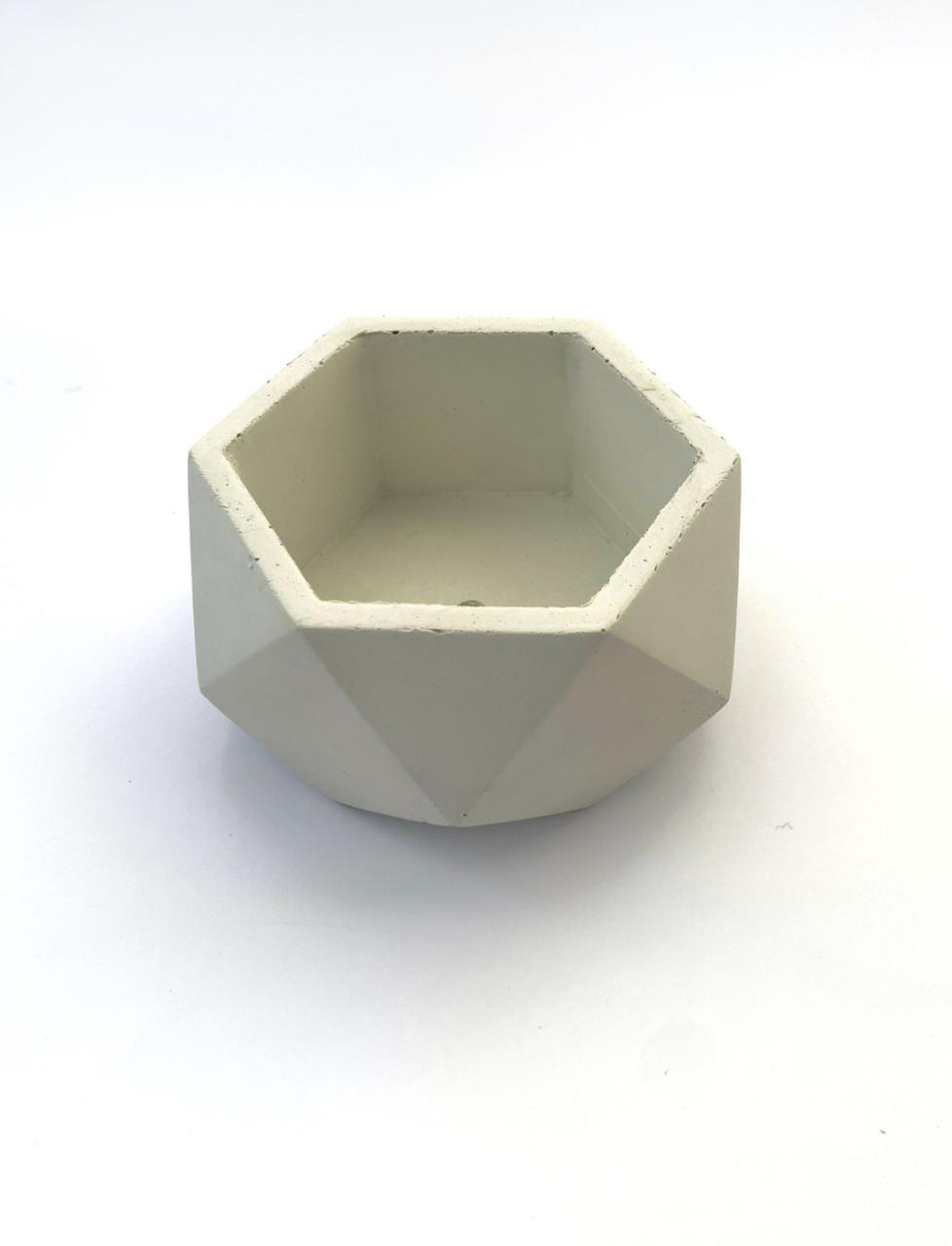 Бетонный горшок Decoline v-250 мл.(белый) B1001-1