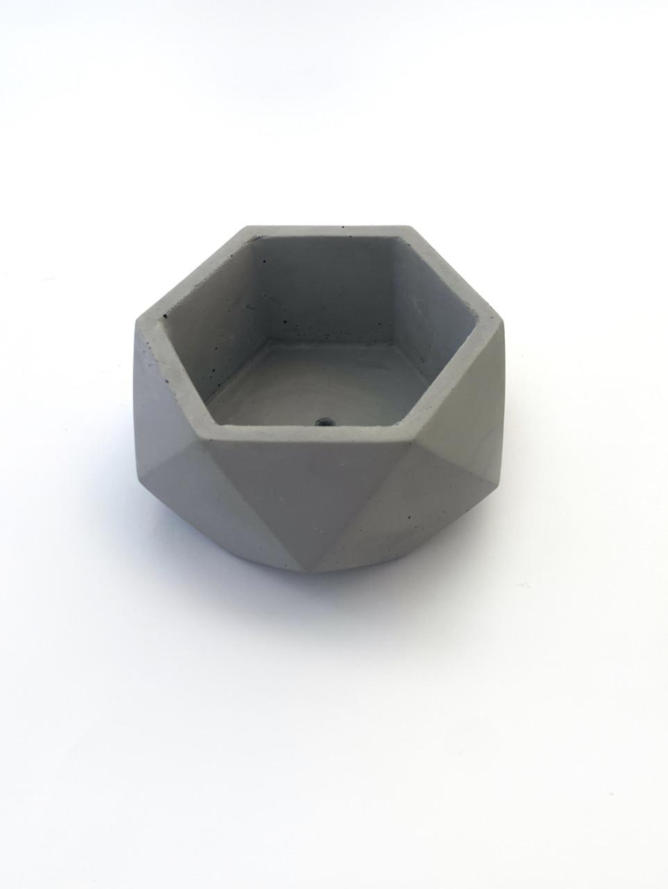 Бетонный горшок Decoline v-250 мл.(серый) B1001-2