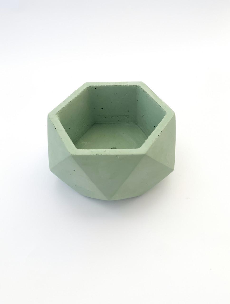 Бетонный горшок Decoline v-250 мл.(зеленый) B1001-5