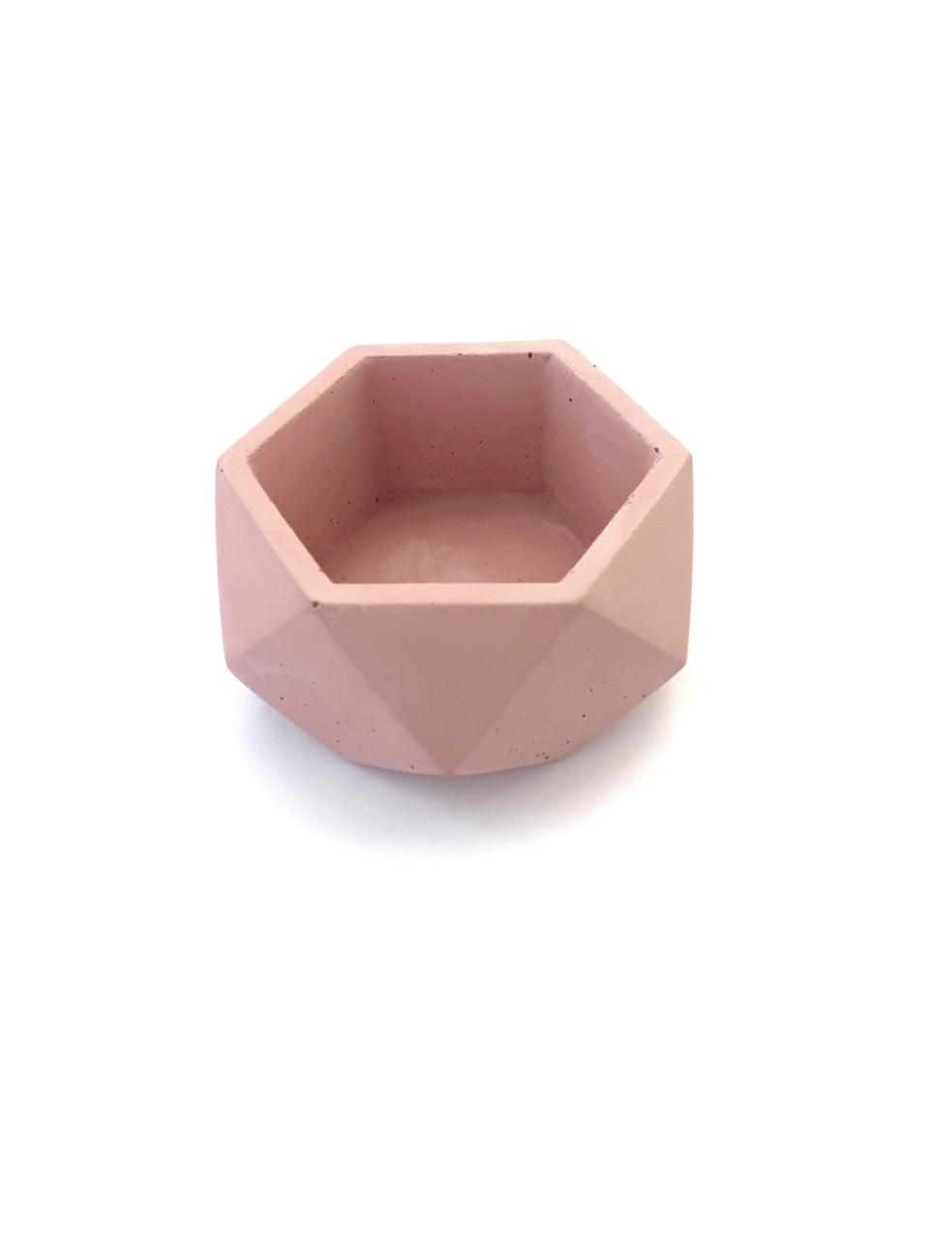 Бетонный горшок Decoline v-125 мл. (розовый) B1002-4