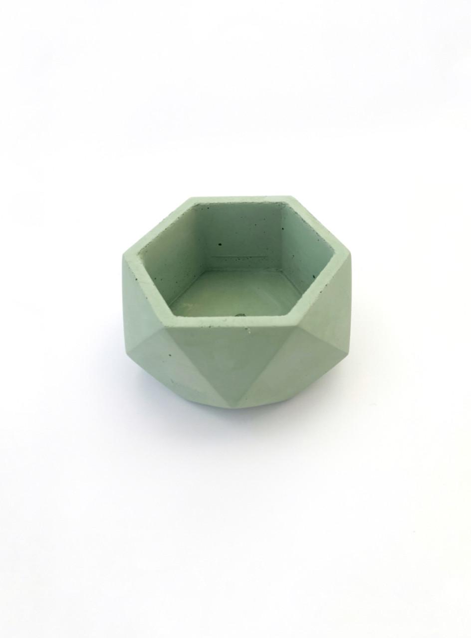 Бетонный горшок Decoline v-125 мл. (зеленый) B1002-5
