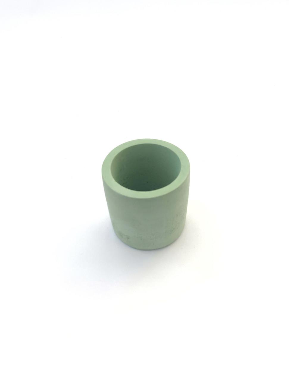Бетонний горщик Decoline v-70 мл. (зелений) B1003-5