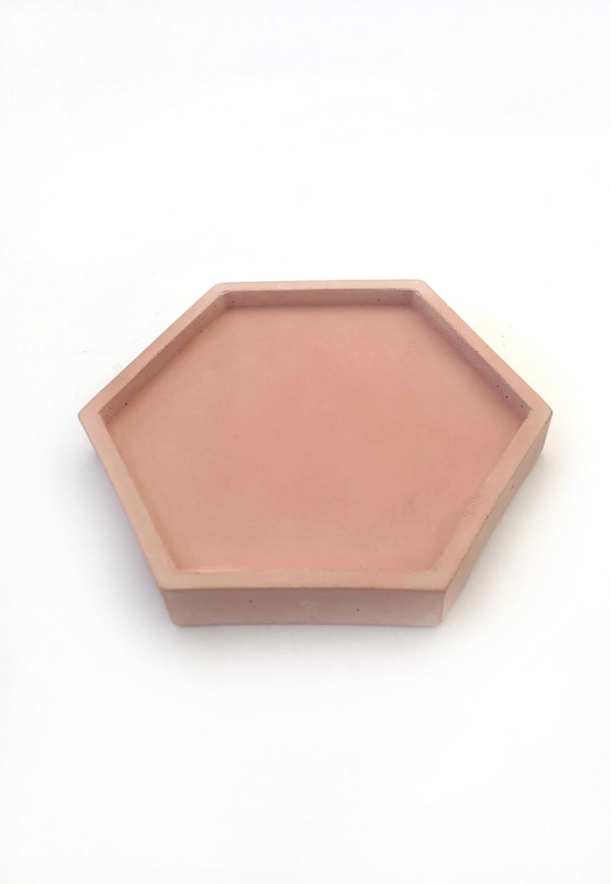Бетонная подставка Decoline (розовая) B1004-4