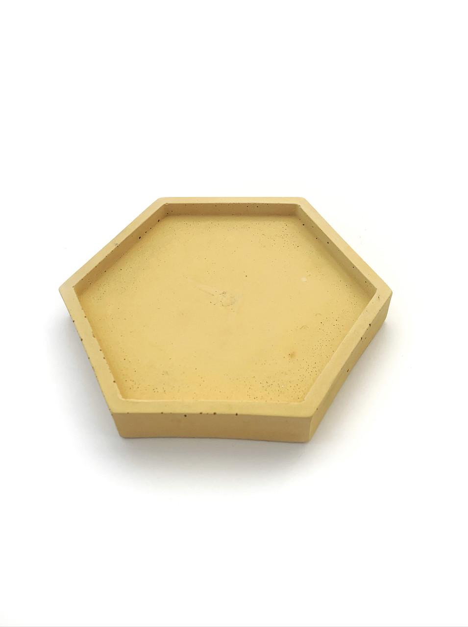 Бетонная подставка Decoline (желтая) B1004-6
