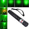 Лазерна указка LASER 303 GREEN з насадкою, зелений лазер в подарунковій упаковці з батарейками, фото 3