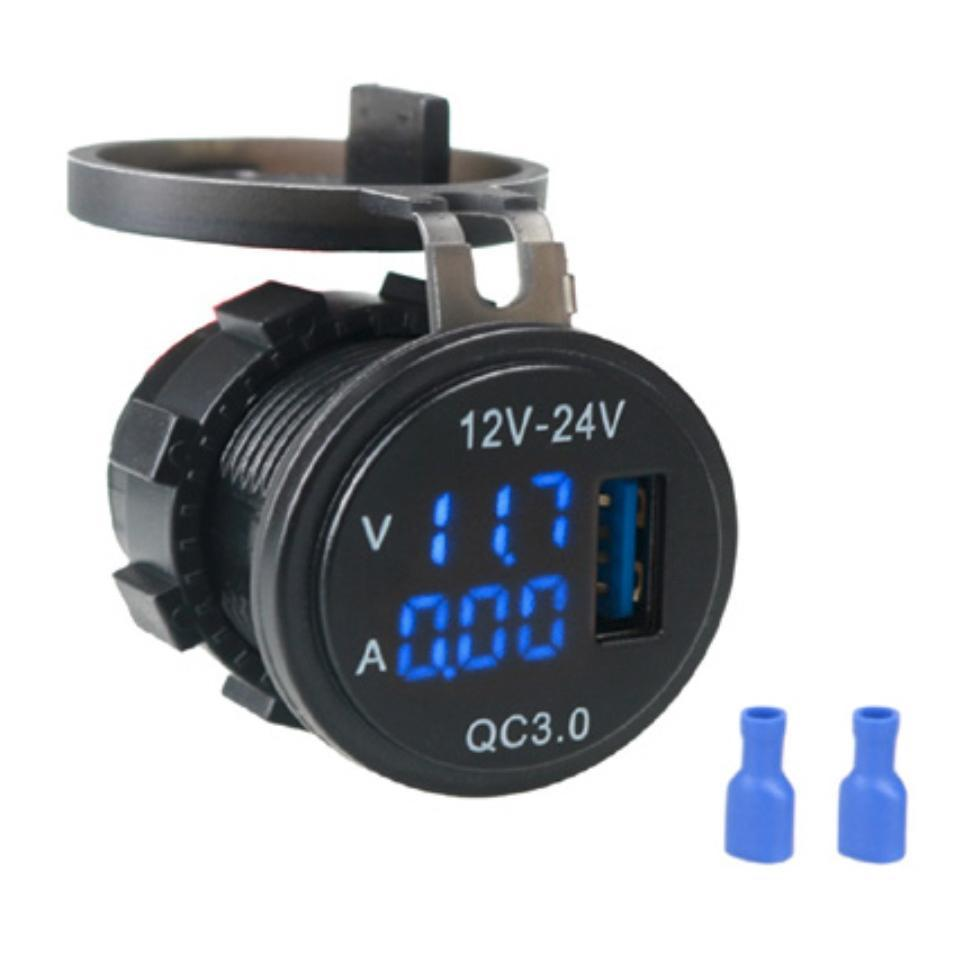 USB зарядка з вольтметром і амперметром A6020