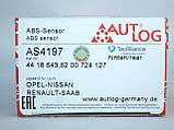 Датчик ABS задний BOSCH на Renault Trafic / Opel Vivaro (2001-2006) Autlog (Германия) AS4197, фото 7