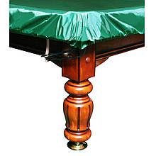 """Чехол для бильярдного стола """"9 футов"""" с резинкой на лузах влагостойкий в зеленом цвете"""