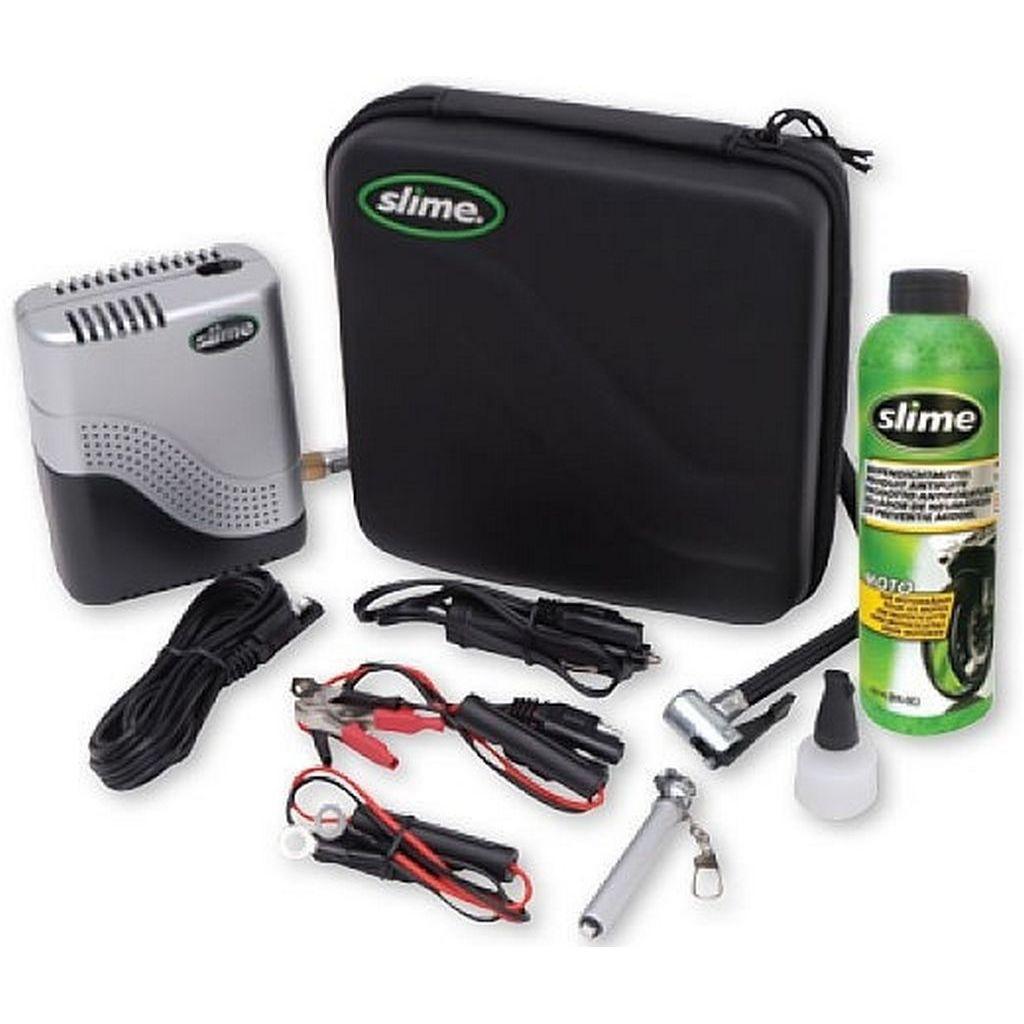Ремкомплект для мотопокрышек MOTO Power Sport (Герметик + воздушный компрессор) Slime (ST)
