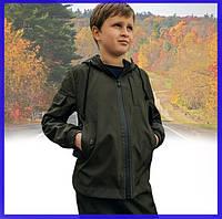 Детская куртка хаки для мальчика весна/осень, спортивная ветровка на мальчика Easy softshell