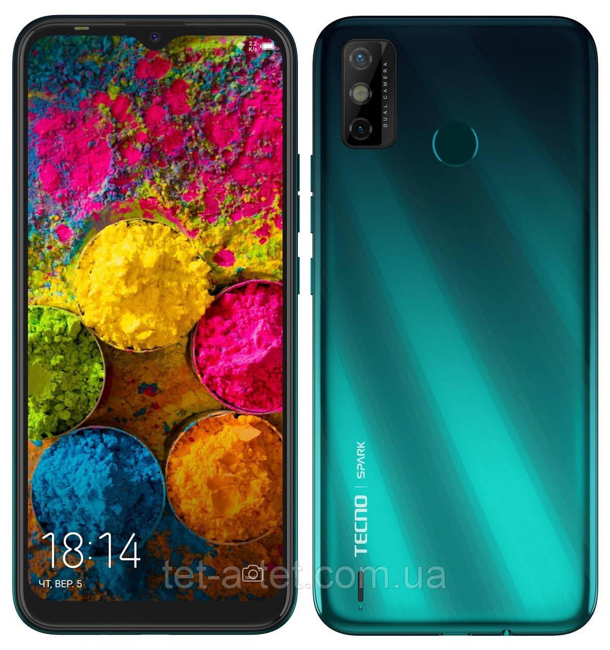 Смартфон TECNO Spark 6 Go (KE5) 2/32GB Ice Jadeite (UA UCRF)