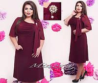 Платье Каритамасло+шифон (размеры 52-60)