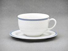 Набор чайный Thun Opal (Обводка голуба) 12 предметов 280мл фарфор (8013601)