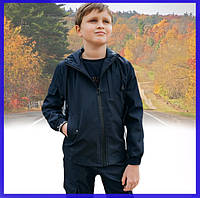 Детская куртка синяя для мальчика весна/осень, спортивная ветровка на мальчика Easy softshell