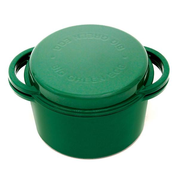 Казан котел из чугуна круглой формы для гриля 4 л зеленого цвета Big Green Egg 117045